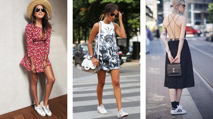 5074df8963d0 Ako správne nosiť šaty s teniskami  - Lovely.sk