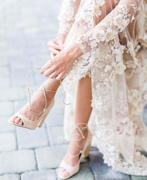 c22409ff8fe3 Ako si vybrať správne svadobné topánky - Lovely.sk