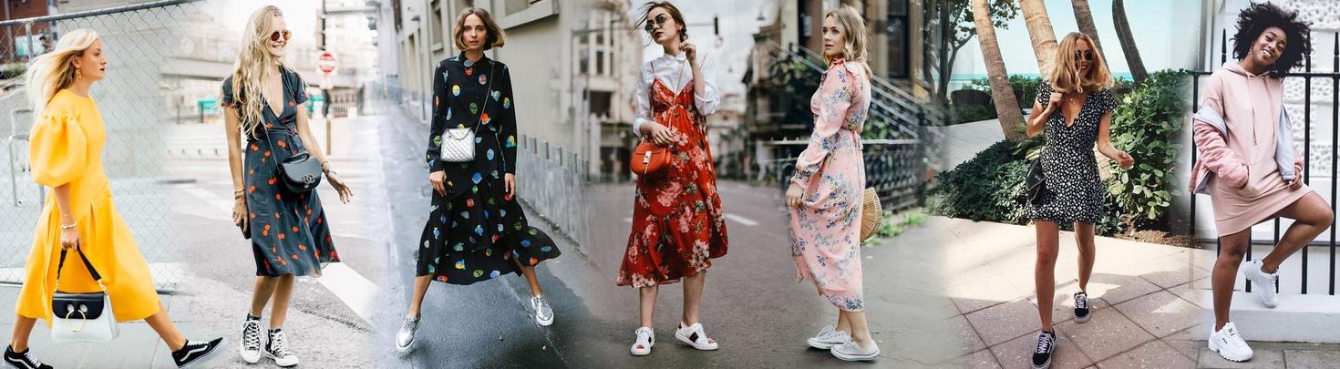 c18ad5dee3a2 Tenisky a šaty  9 rôznych spôsobov ako ich kombinovať - Lovely.sk