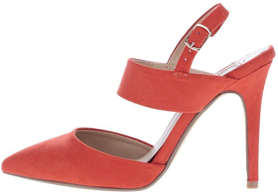 644aa205ab60 Červené sandálky v semišovej úprave na ihlovom podpätku Dorothy Perkins  značky Dorothy Perkins - Lovely.sk