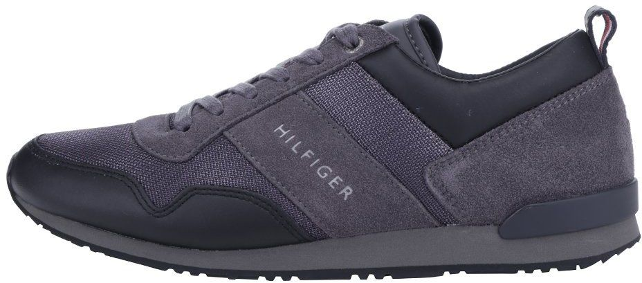 c52b24f5b Sivo-čierne pánske tenisky s koženými detailmi Tommy Hilfiger Maxwell  značky Tommy Hilfiger - Lovely.sk