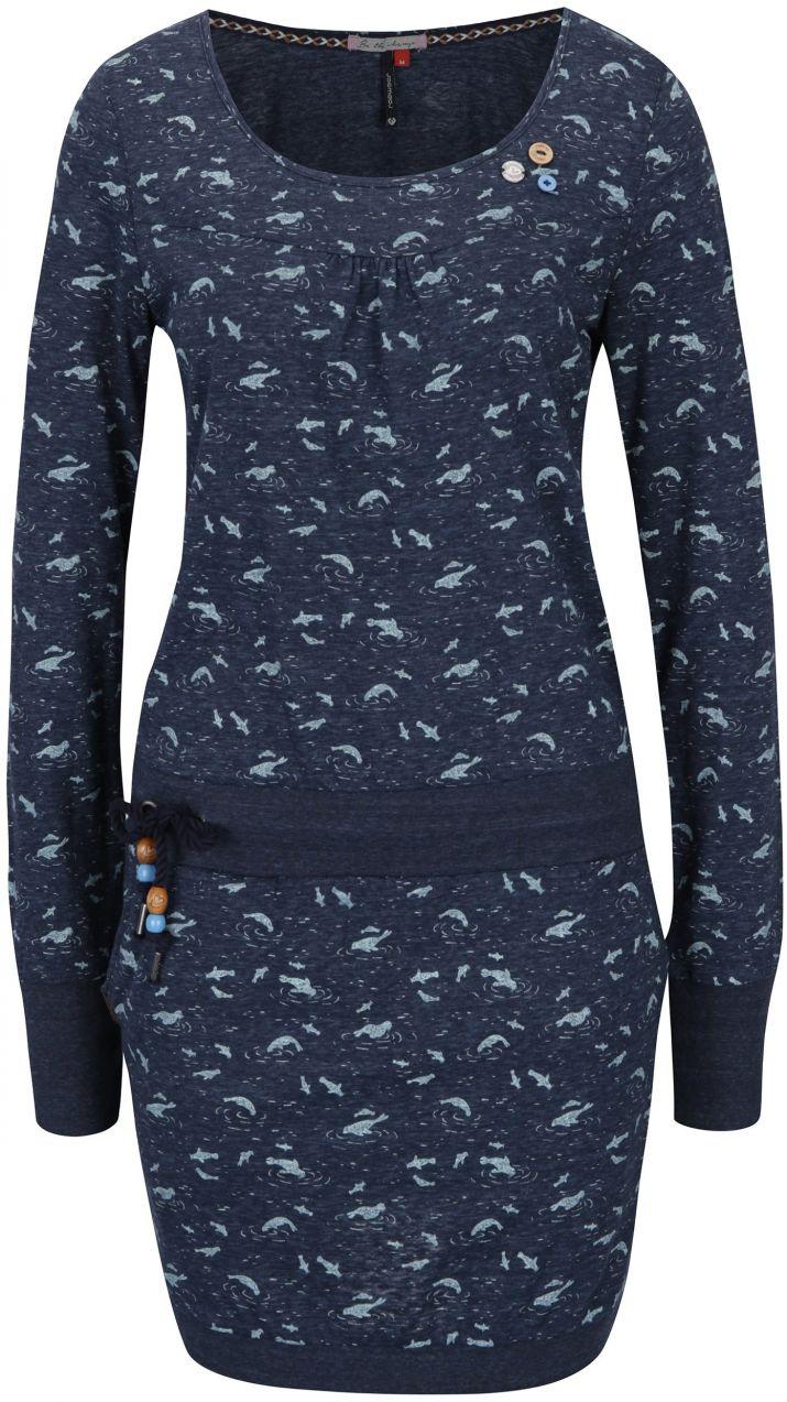 Tmavomodré vzorované šaty s dlhým rukávom Ragwear Penelope značky Ragwear -  Lovely.sk a41c3e6c894
