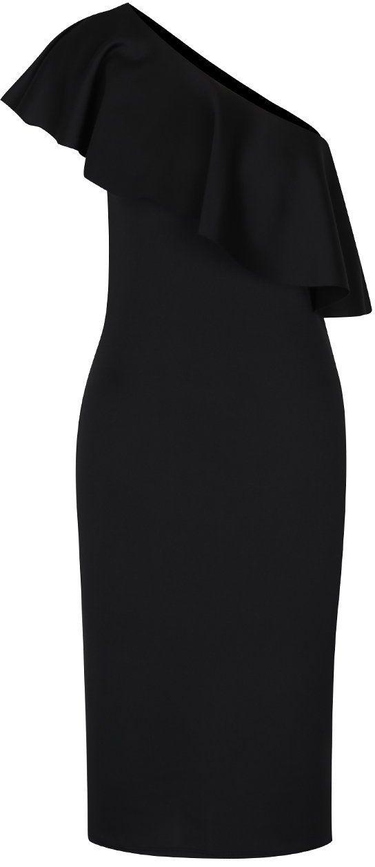 9833444633d5 Čierne puzdrové šaty na jedno rameno s volánom Dorothy Perkins Tall značky  Dorothy Perkins Tall - Lovely.sk