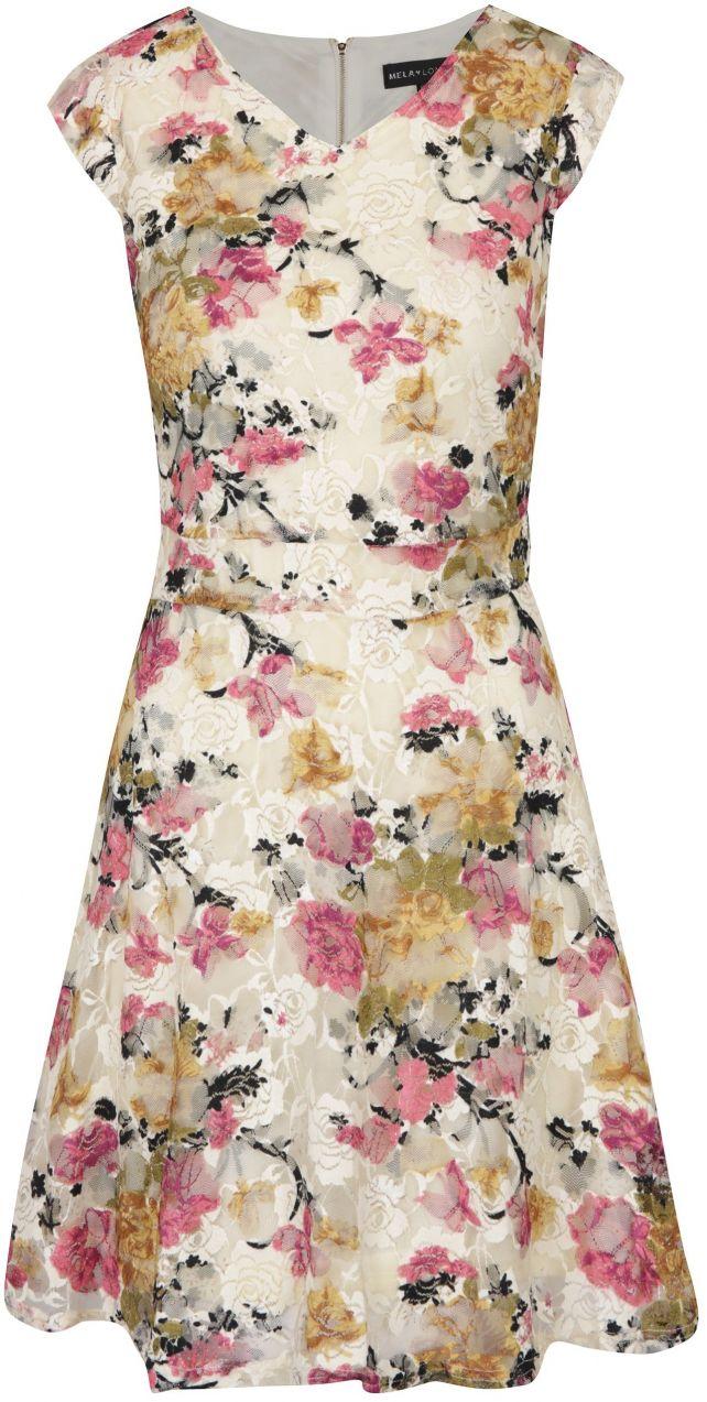 Béžovo-krémové kvetované šaty Mela London značky Mela London - Lovely.sk 71b18411ed3