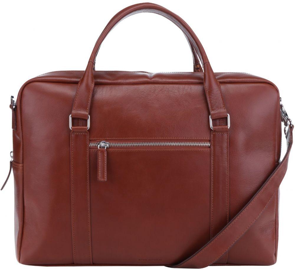 3333b6a7fe Hnedá dámska kožená taška na notebook Royal RepubliQ značky Royal RepubliQ  - Lovely.sk