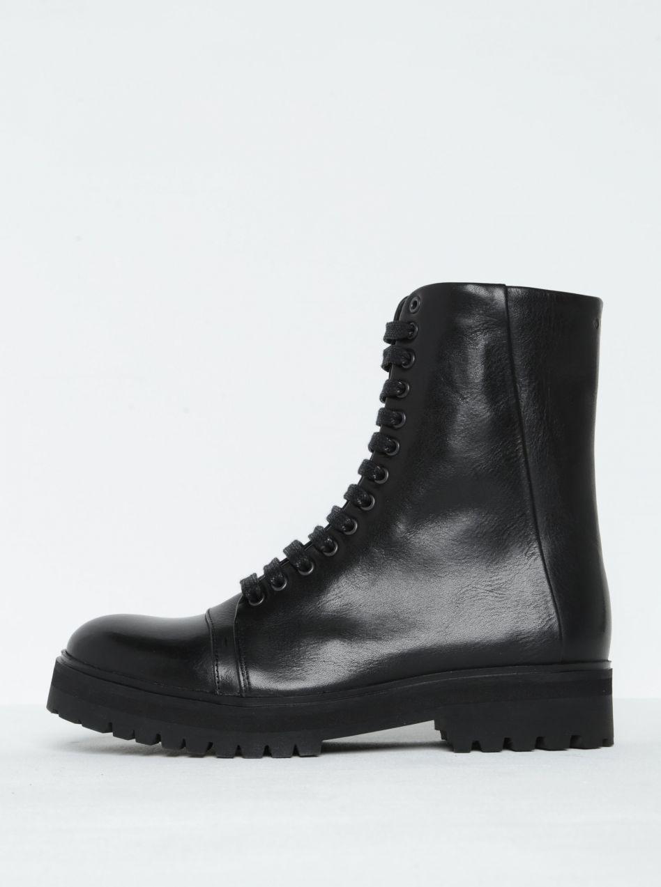 ac638f0990 Čierne dámske kožené členkové topánky Royal RepubliQ značky Royal RepubliQ  - Lovely.sk