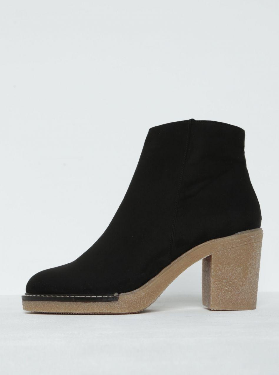 Čierne členkové topánky na podpätku OJJU značky OJJU - Lovely.sk c707fc62057