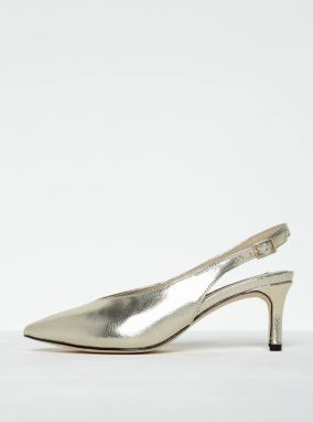 78dfb70f2b Lesklé sandáliky v zlatej farbe s hadím vzorom Miss Selfridge