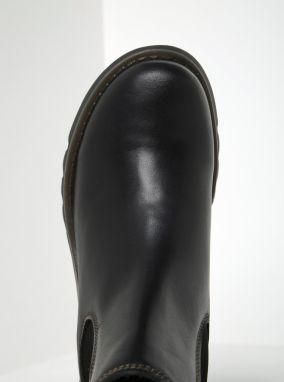 Čierne dámske kožené chelsea topánky FLY London značky Fly London ... f80862a550e
