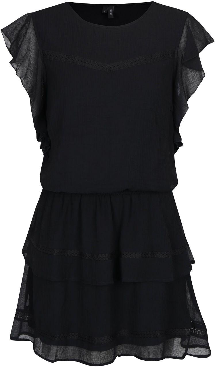 f39a7c5ff240 Čierne šaty s volánmi VERO MODA Aruba značky Vero Moda - Lovely.sk