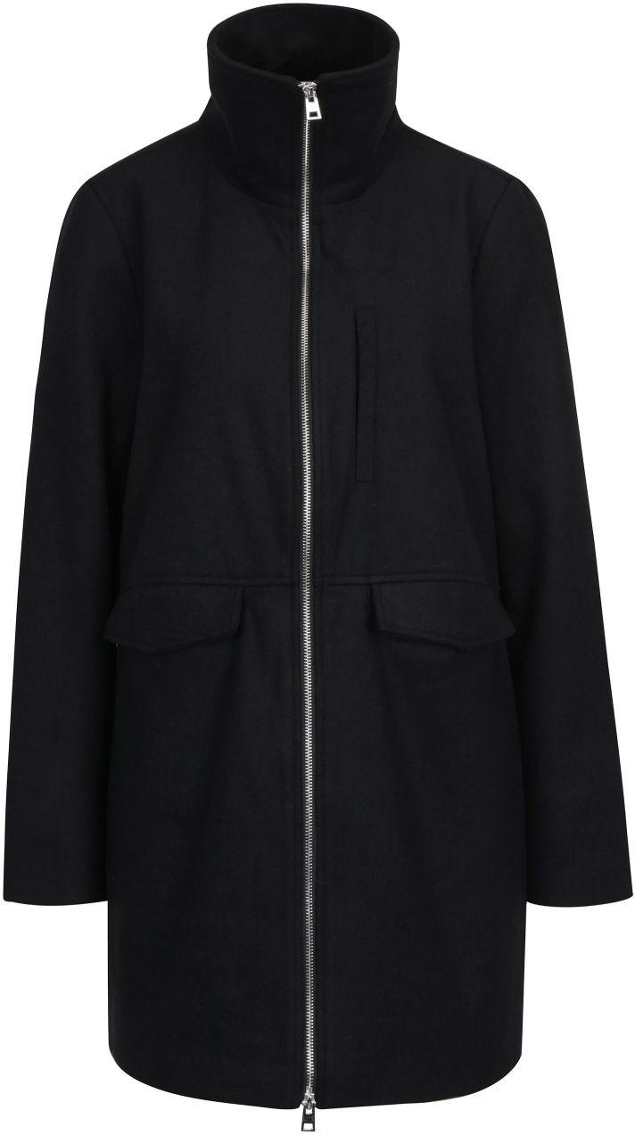 31e96e7ff Čierny kabát so zipsom Noisy May Minna značky Noisy May - Lovely.sk