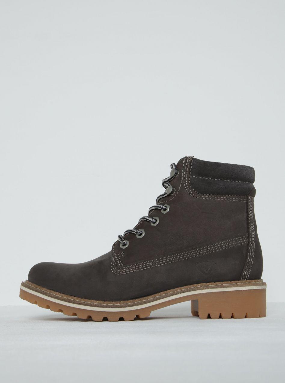 4604b6e33 Hnedé kožené členkové topánky Tamaris značky Tamaris - Lovely.sk