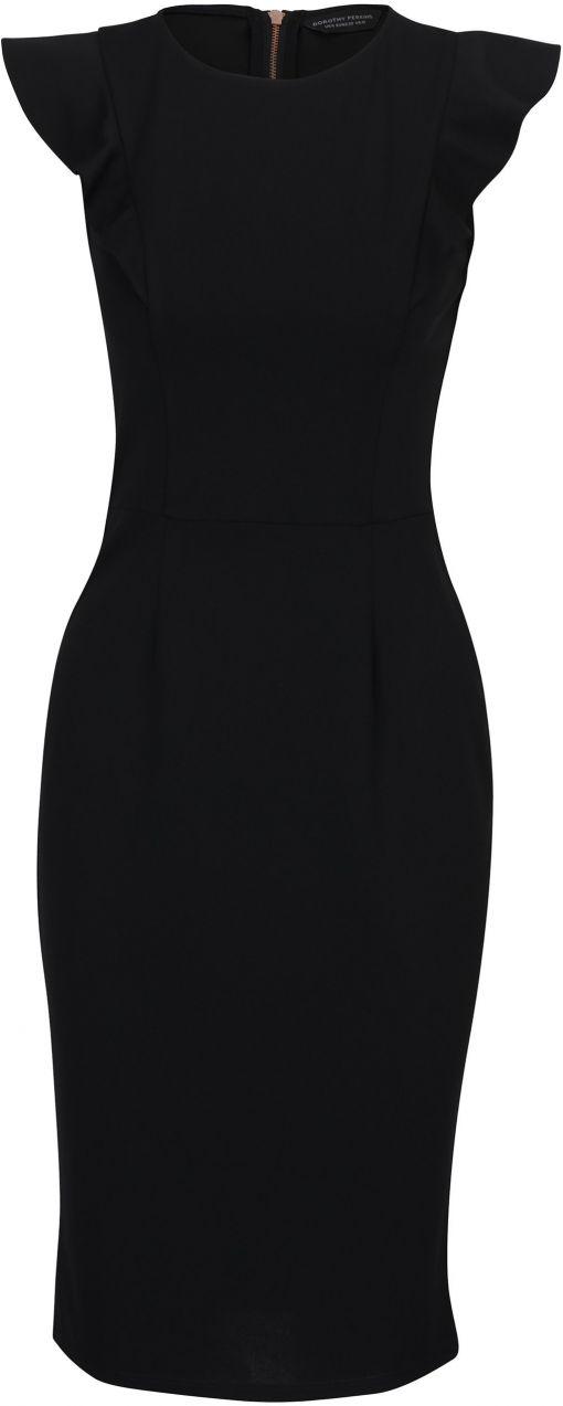 Čierne puzdrové šaty so zipsom na chrbte Dorothy Perkins značky Dorothy  Perkins - Lovely.sk ba3e0438e20
