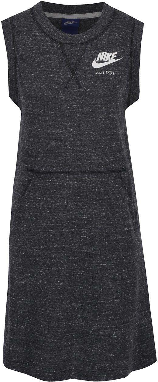 5b353929f73a Čierne dámske melírované športové šaty bez rukávov Nike značky Nike -  Lovely.sk