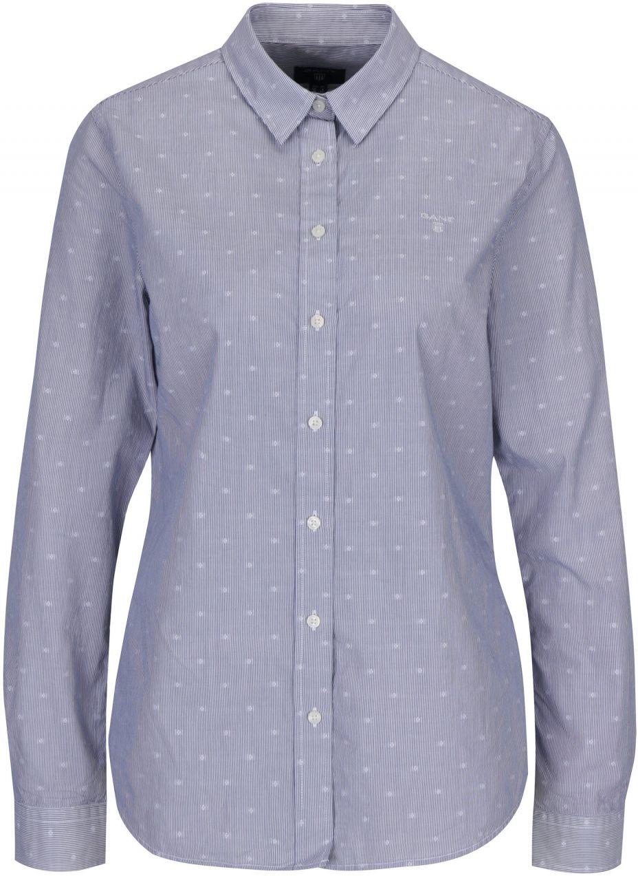 4d41002f3dae Tmavomodrá dámska pruhovaná košeľa GANT značky Gant - Lovely.sk