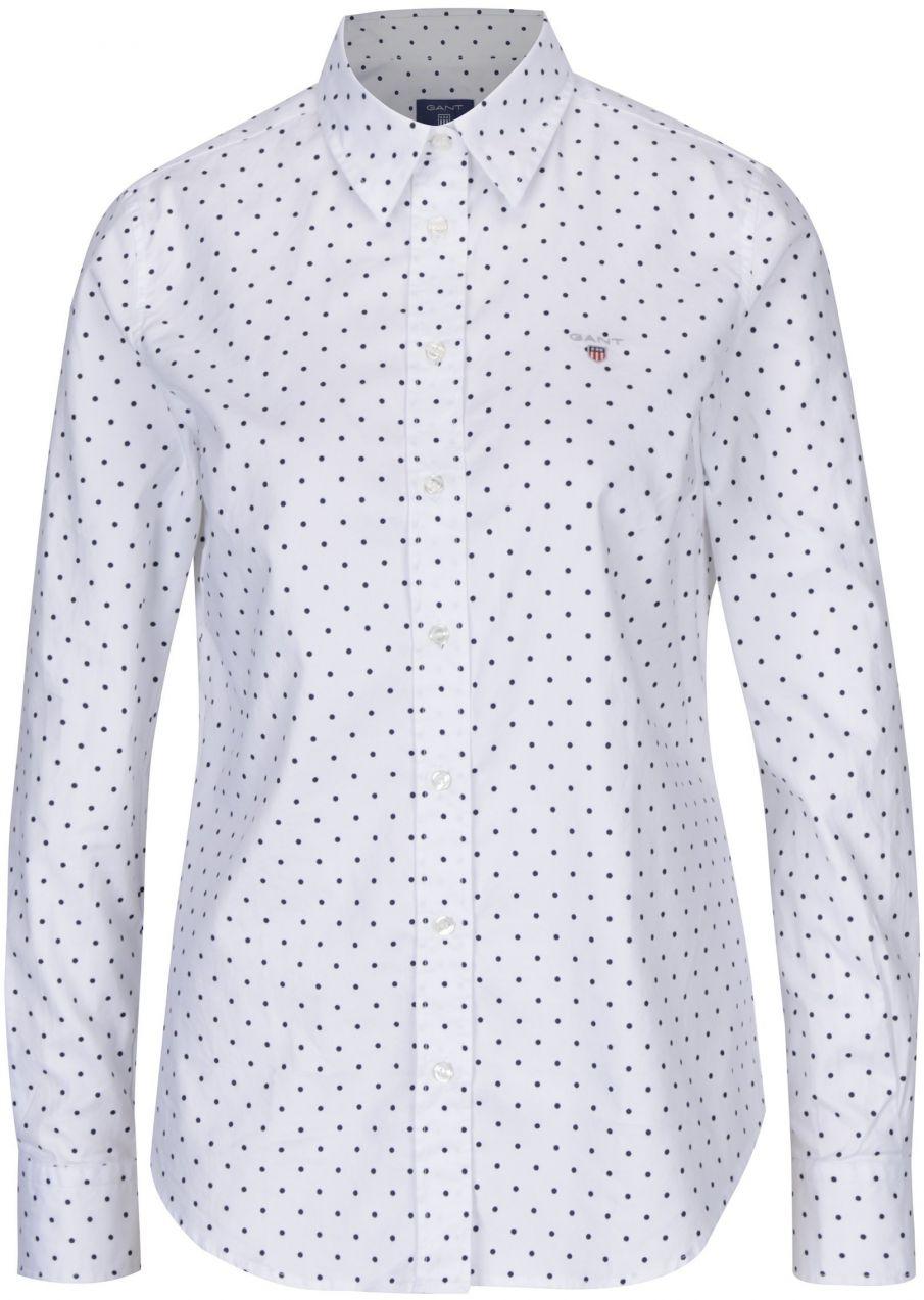 dc21e3fbe175 Biela dámska bodkovaná košeľa GANT značky Gant - Lovely.sk