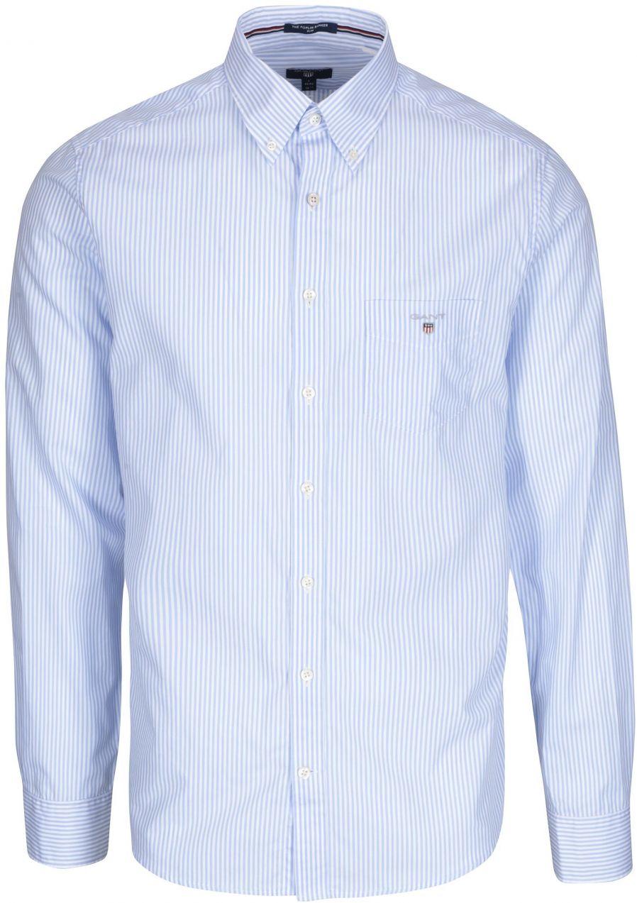 67e91a990192 Bielo-modrá pánska pruhovaná formálna slim košeľa GANT značky Gant -  Lovely.sk