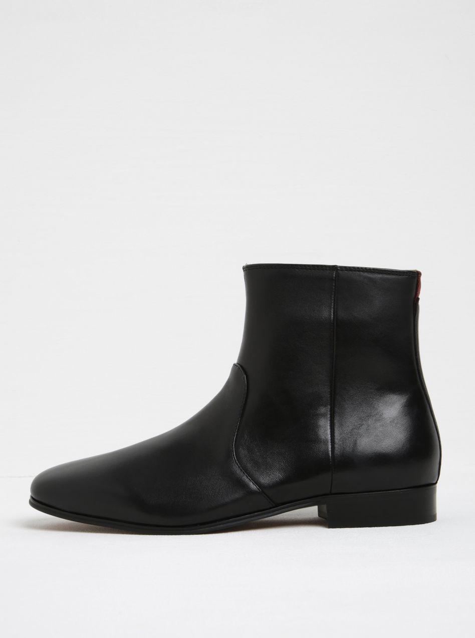 06caf03d33 Čierne pánske kožené členkové topánky ALDO Arly značky ALDO - Lovely.sk