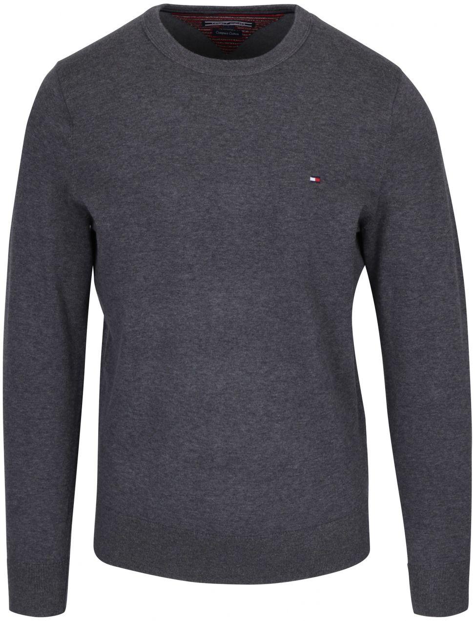 Sivý pánsky sveter Tommy Hilfiger Compact značky Tommy Hilfiger - Lovely.sk ed9266ec871