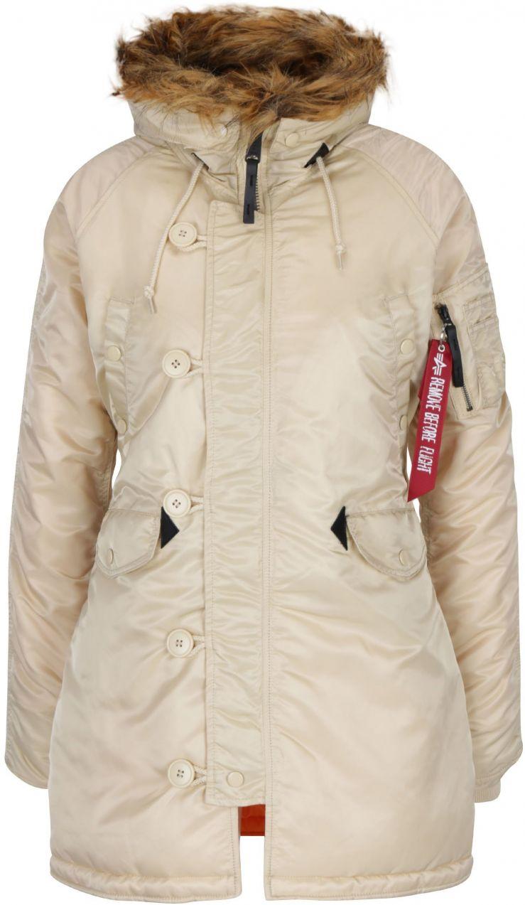 Béžová dámska zimná parka ALPHA INDUSTRIES značky Alpha Industries - Lovely .sk c4c082f6715
