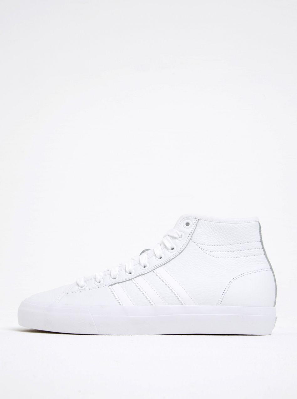 e7f8aaed579e8 Biele pánske kožené členkové tenisky adidas Originals Matchcourt High značky  adidas Originals - Lovely.sk
