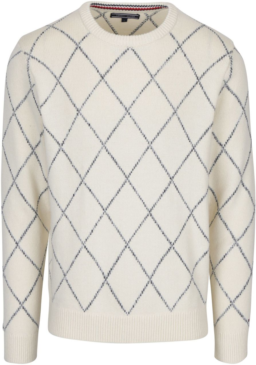 Krémový pánsky vzorovaný sveter s prímesou vlny Tommy Hilfiger Kion značky  Tommy Hilfiger - Lovely.sk baf210009c3