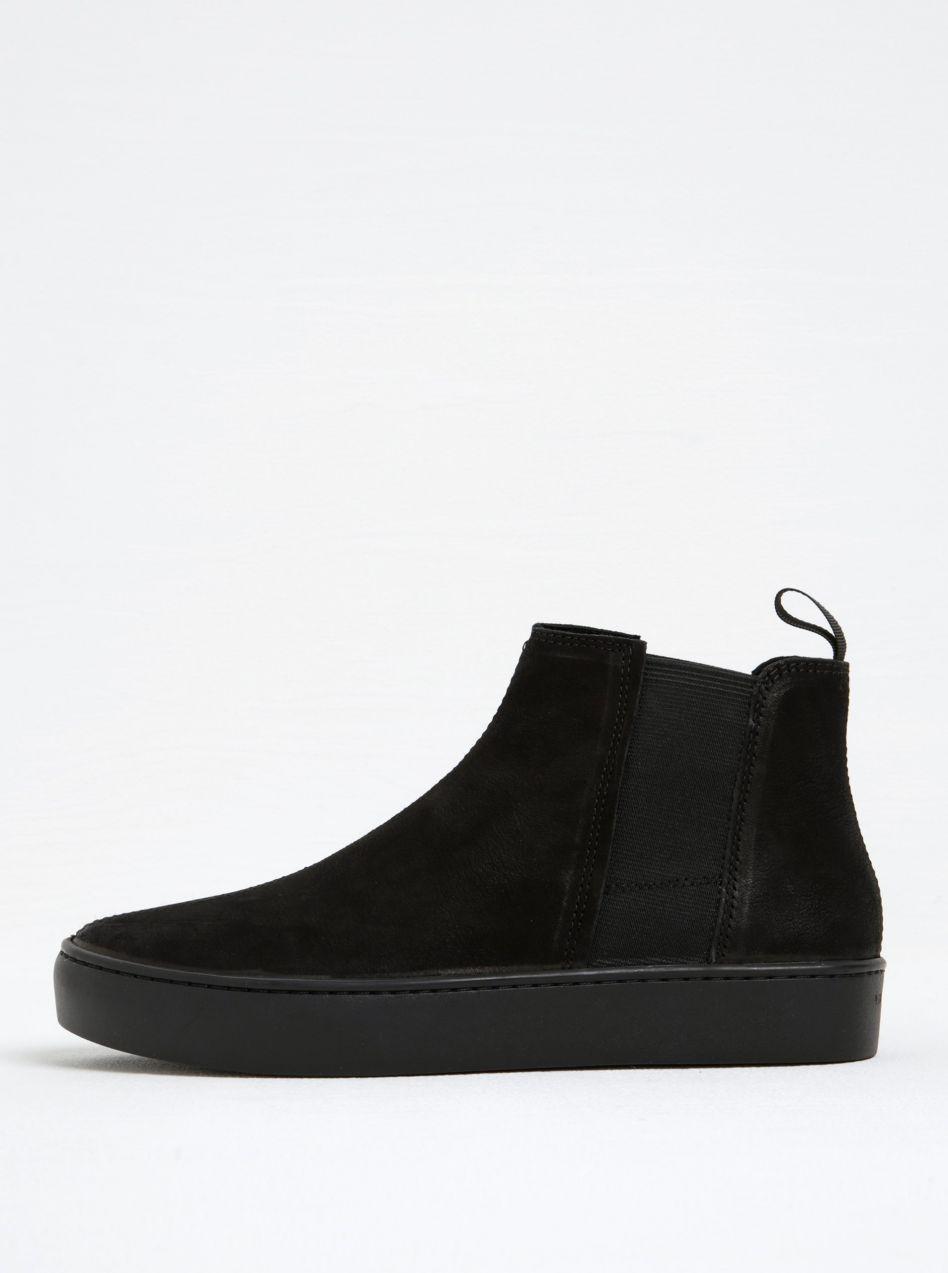 5a94ef84ce Čierne dámske kožené chelsea topánky na platforme Vagabond Zoe ...