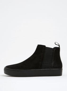 8d0aa18ecb773 Čierne dámske kožené chelsea topánky na platforme Vagabond Zoe