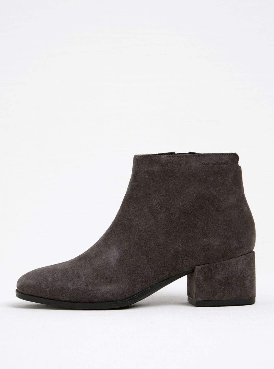 5d9ab5999a Tmavosivé dámske semišové členkové topánky na podpätku Vagabond Daisy  značky Vagabond - Lovely.sk