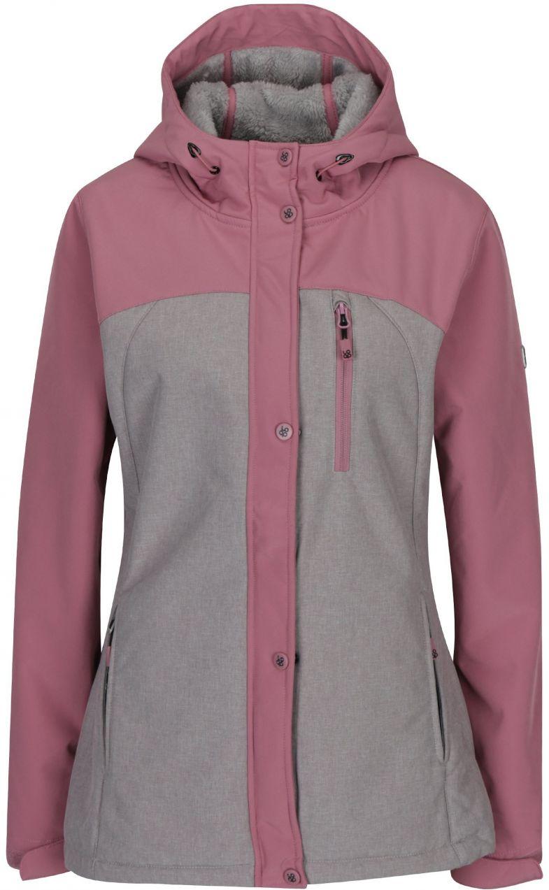 Ružovo-sivá dámska softshellová bunda LOAP Lusidam značky LOAP - Lovely.sk 3de1b6eff02