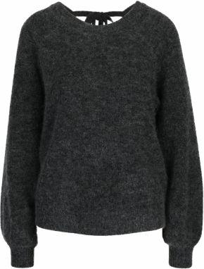 9a8b09356e87 Tmavosivý melírovaný vlnený sveter s prímesou mohéru Selected Femme Kaila