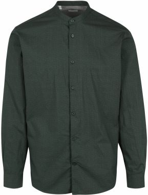 Zelená slim fit košeľa bez goliera Selected Homme Done Cole