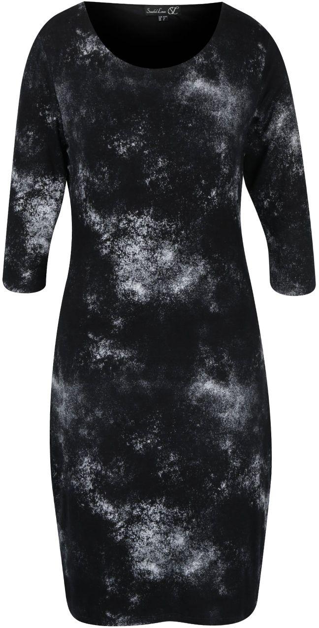 ddb4ce78c2a3 Čierne vzorované šaty s 3 4 rukávom Smashed Lemon značky Smashed Lemon -  Lovely.sk