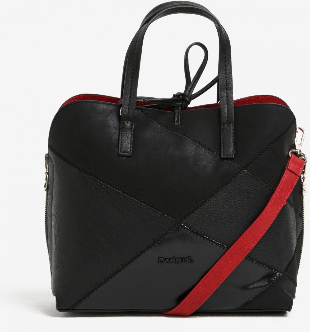 Červeno–čierna obojstranná kabelka 2v1 Desigual Hamar Cougar značky Desigual  - Lovely.sk 4e980d2ed2e