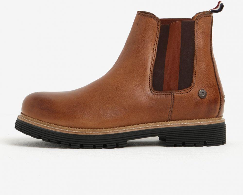 31f58c4aa5 Hnedé pánske kožené chelsea topánky Tommy Hilfiger Louis značky Tommy  Hilfiger - Lovely.sk