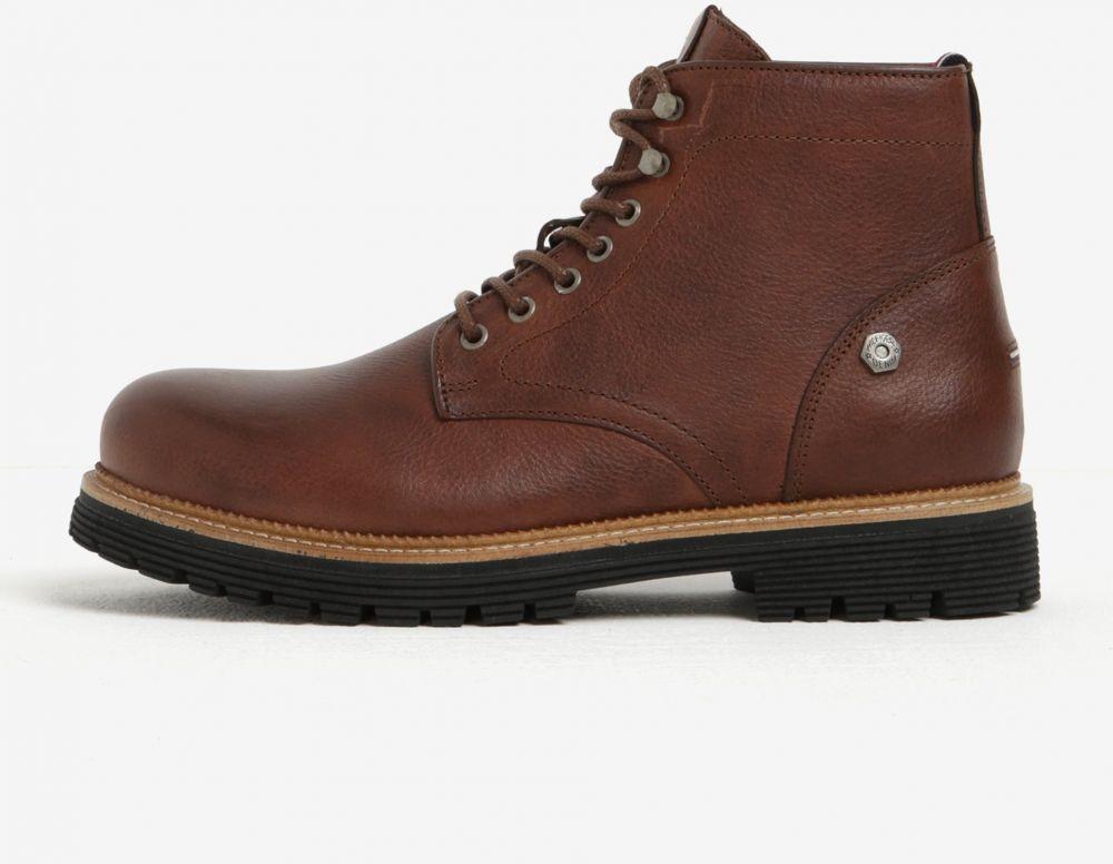 Hnedé pánske kožené členkové topánky Tommy Hilfiger Louis značky Tommy  Hilfiger - Lovely.sk 91a0a5fedf6