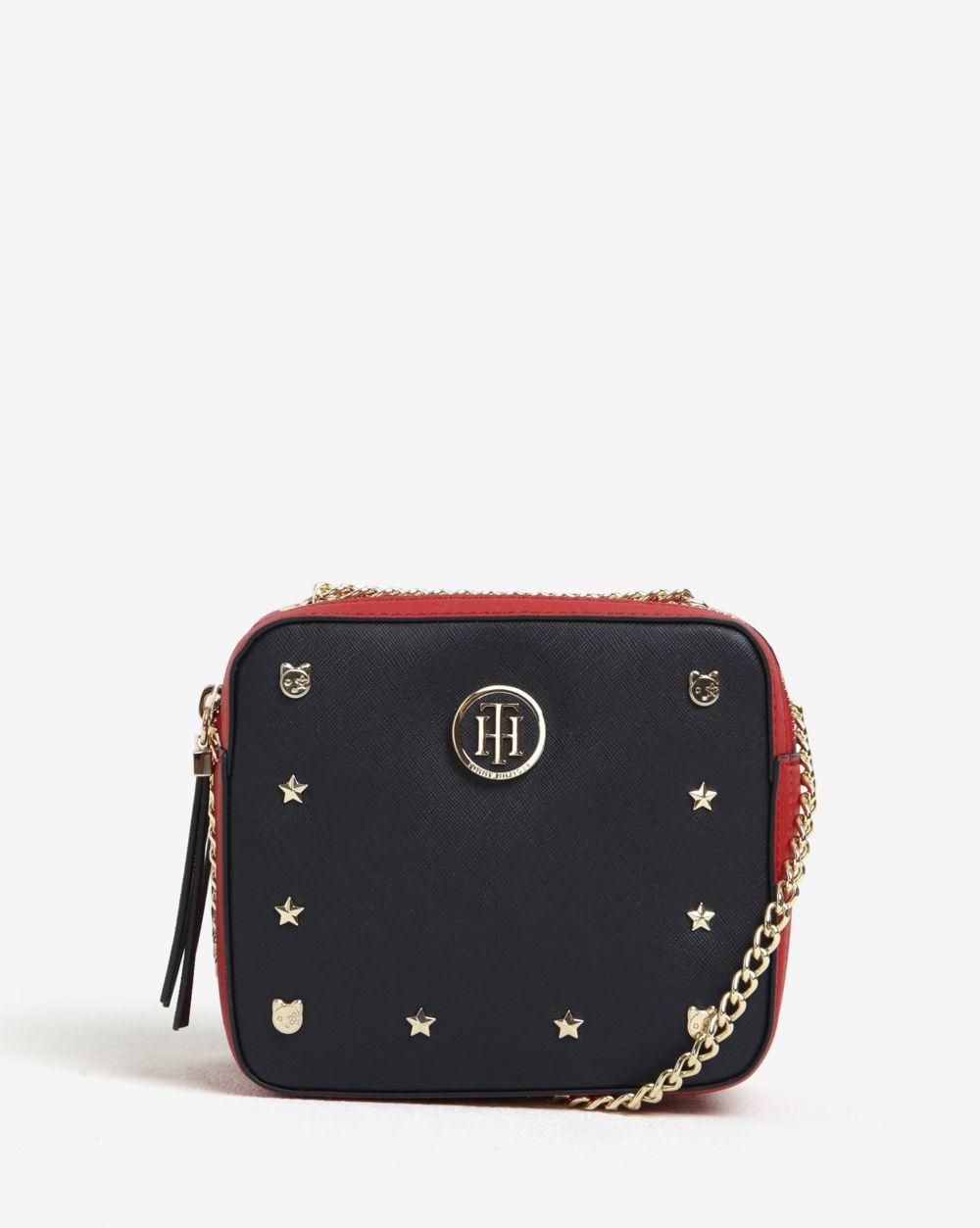 Červeno-modrá crossbody kabelka s plastickými detailmi Tommy Hilfiger  Camera značky Tommy Hilfiger - Lovely.sk 2b87486efaa