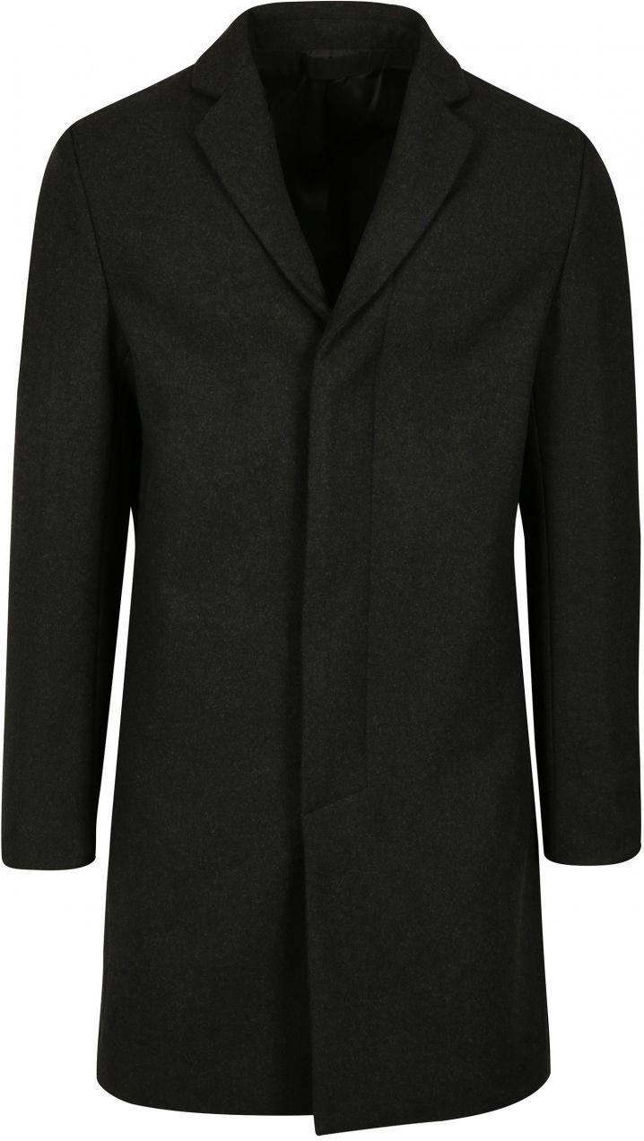 Tmavosivý pánsky kabát s prímesou vlny Selected Homme Brove značky Selected  Homme - Lovely.sk bce66c30966