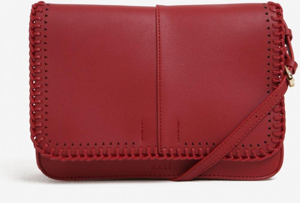 Červená crossbody kabelka s detailmi v zlatej farbe Nalí značky Nalí -  Lovely.sk 349ddbab6cd