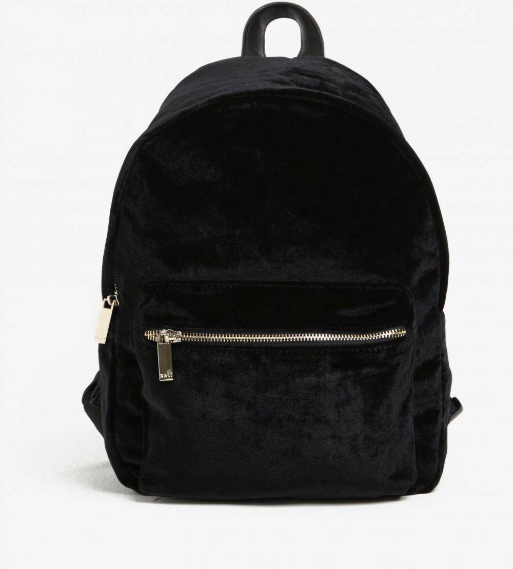 Čierny zamatový batoh so zipsom v zlatej farbe Nalí značky Nalí - Lovely.sk 412ed27f6e