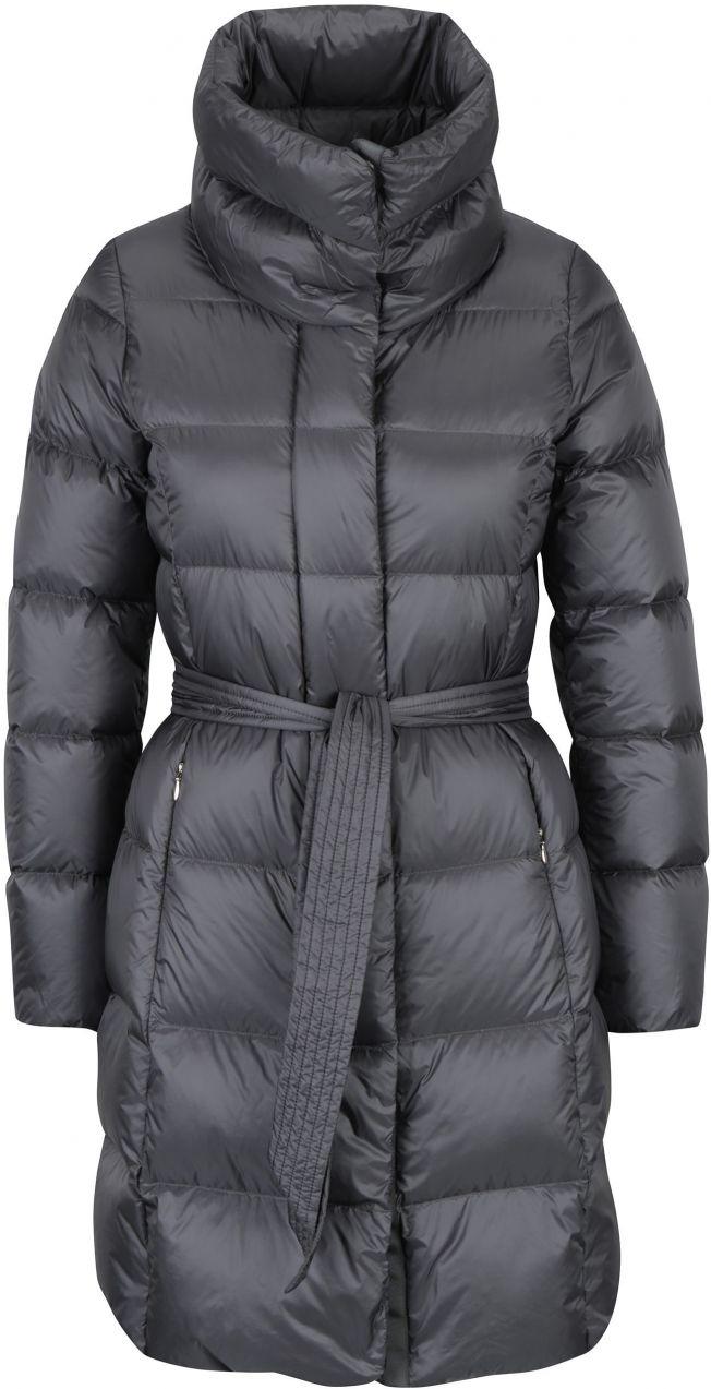 Sivý dámsky prešívaný kabát s odopínateľnou kapucňou Geox značky Geox -  Lovely.sk bed67a5efd8