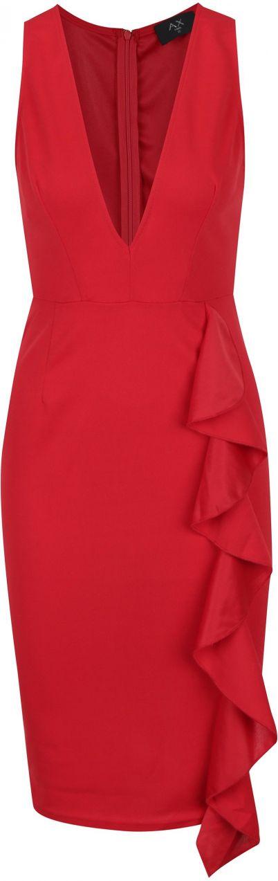 70cc0c0fc927 Červené puzdrové šaty AX Paris značky AX Paris - Lovely.sk