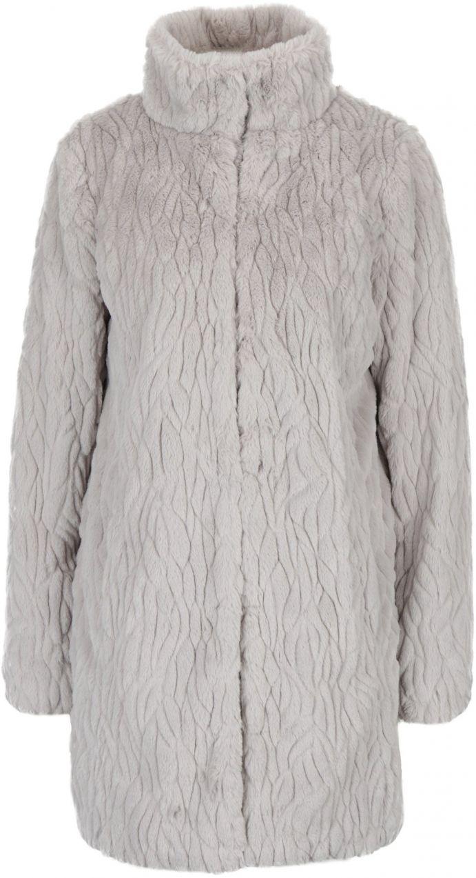 Svetlosivý kabát z umelej kožušiny s vreckami Dorothy Perkins značky Dorothy  Perkins - Lovely.sk 29b51c083c4