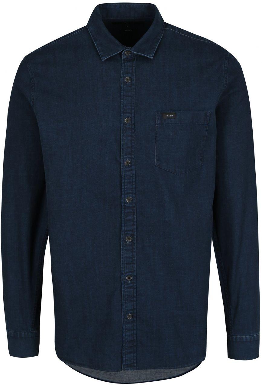 df3083de2f4e Tmavomodrá pánska rifľová košeľa s dlhým rukávom Makia Luoto značky Makia -  Lovely.sk