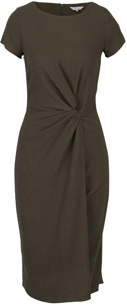 Kaki šaty s uzlom v páse Dorothy Perkins značky Dorothy Perkins - Lovely.sk 751aa2d4d37