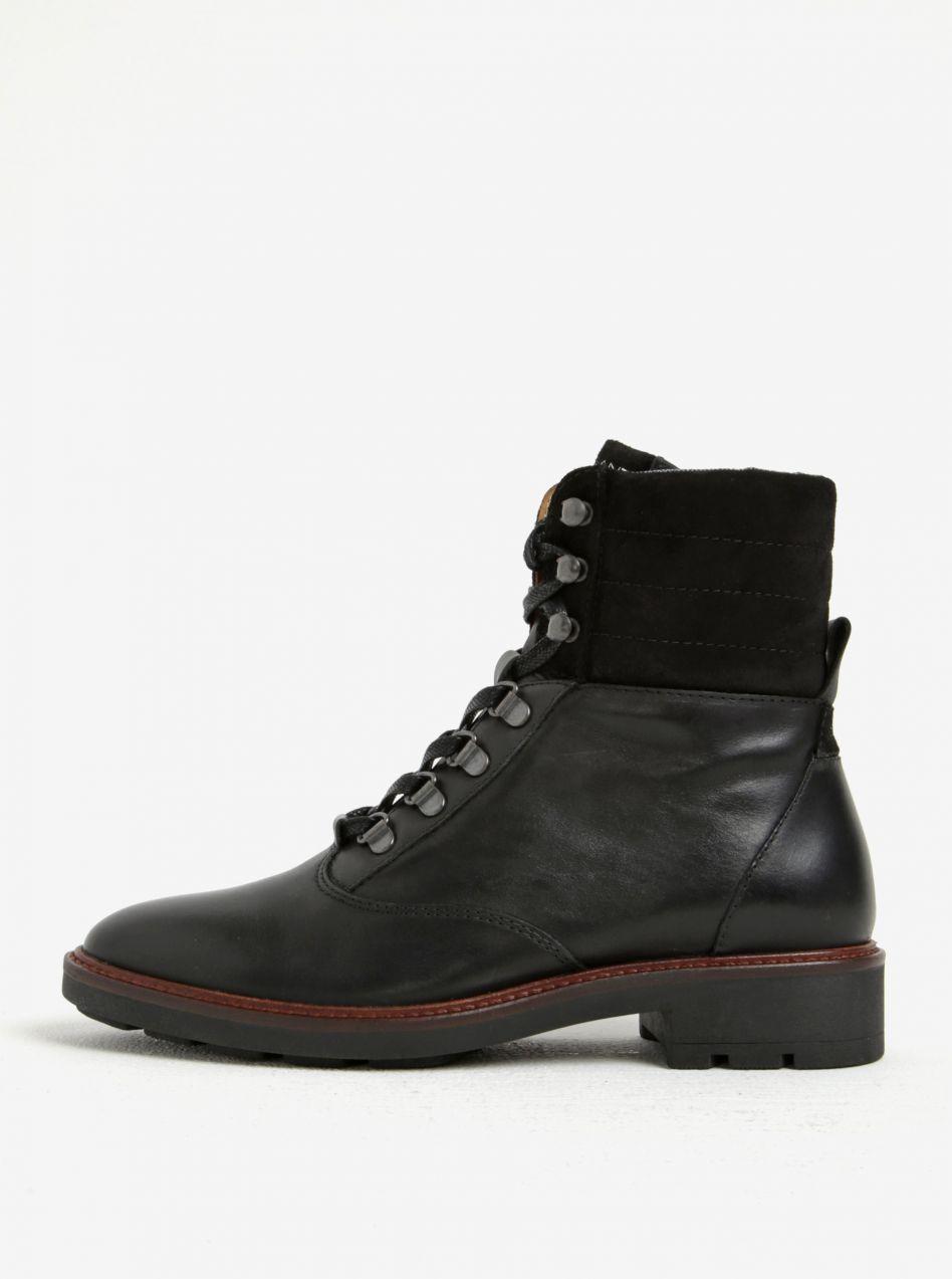 0ba8d7e8c80a Čierne dámske kožené členkové topánky GANT Emillia značky Gant - Lovely.sk