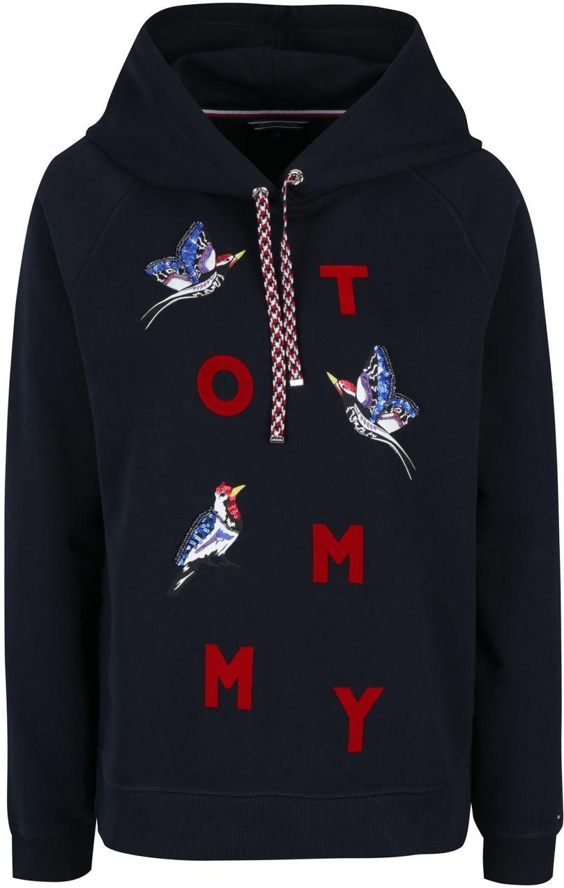 7e491046b6 Tmavomodrá dámska mikina s potlačou Tommy Hilfiger značky Tommy Hilfiger -  Lovely.sk