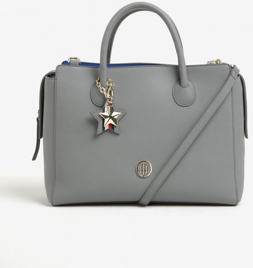 Modro–sivá dámska kabelka s odnímaľným popruhom Tommy Hilfiger značky Tommy  Hilfiger - Lovely.sk 74e71f844d