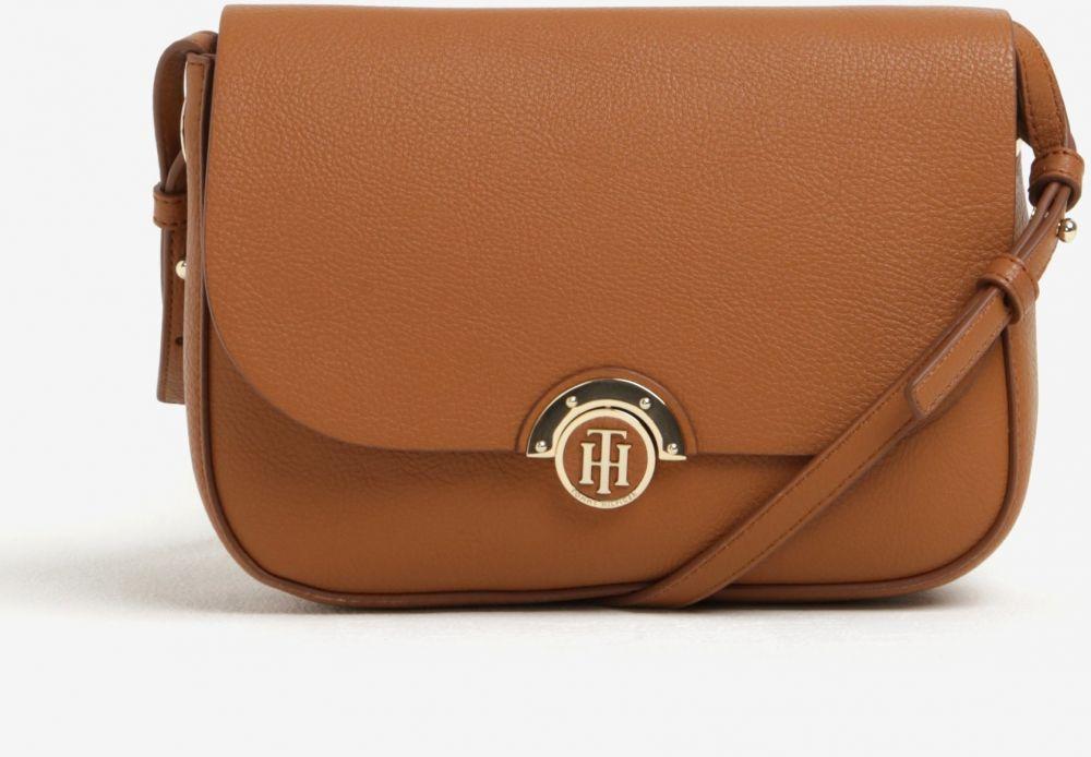 92c0b3fd54c8 Hnedá dámska crossbody kabelka s obojstrannou chlopňou Tommy Hilfiger  značky Tommy Hilfiger - Lovely.sk