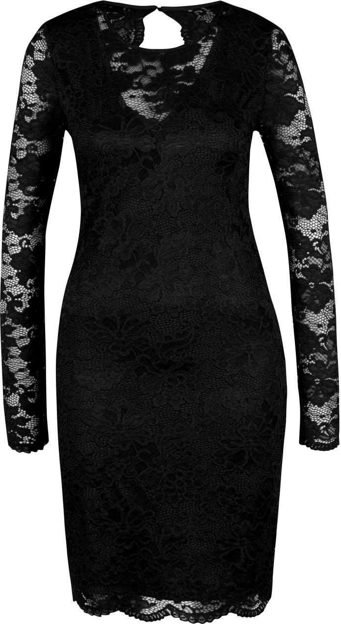 b6497d626ff5 Čierne čipkované šaty s prestrihom na chrbte VERO MODA Joy značky Vero Moda  - Lovely.sk